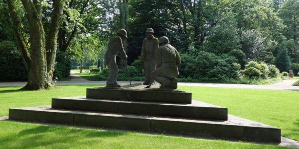 Die Erinnerungsstätte für verunglückte Bergleute auf dem Hauptfriedhof Gelsenkirchen.