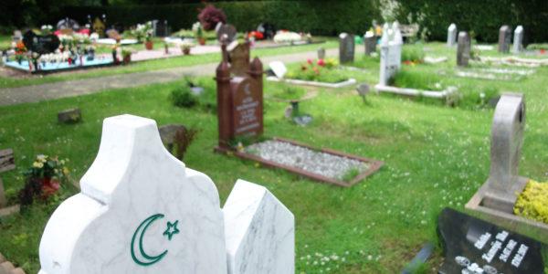 Grabfeld für Angehörige muslimischen Glaubens auf dem Friedhof in Hassel.